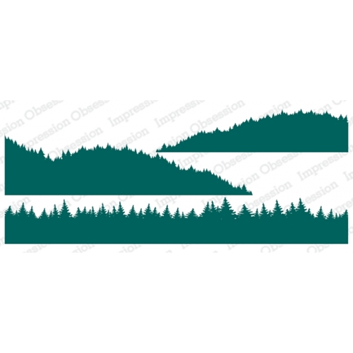 Impression Obsession Cling Stamps TREE LINE LAYERS 3227 LG Preview Image