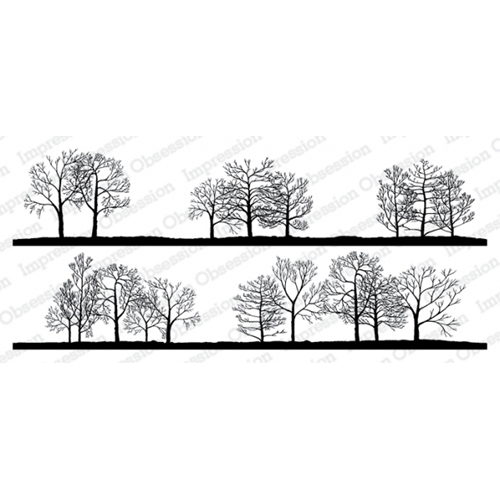 Impression Obsession Cling Stamps BARE TREE LINE DUO 3231 LG Preview Image