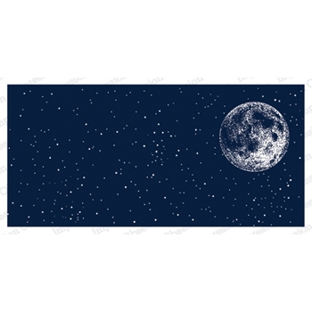 Impression Obsession Cling Stamp NIGHT SKY WITH MOON 3230 LG