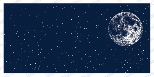 Impression Obsession Cling Stamp NIGHT SKY WITH MOON 3230 LG zoom image