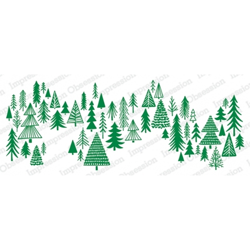 Impression Obsession Cling Stamp SKETCHED TREES 3228 LG Preview Image