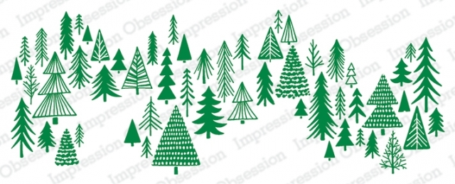 Impression Obsession Cling Stamp SKETCHED TREES 3228 LG zoom image