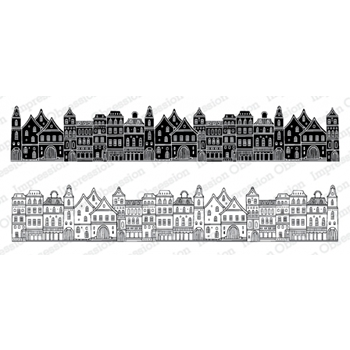 Impression Obsession Cling Stamps TOWN 3233 LG