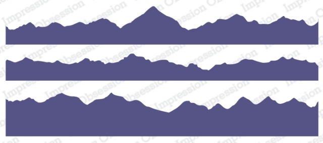 Impression Obsession Cling Stamps MOUNTAIN LAYERS 3226 LG zoom image