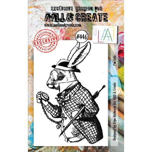 AALL & Create I'M LATE A7 Clear Stamp aal00446 Preview Image