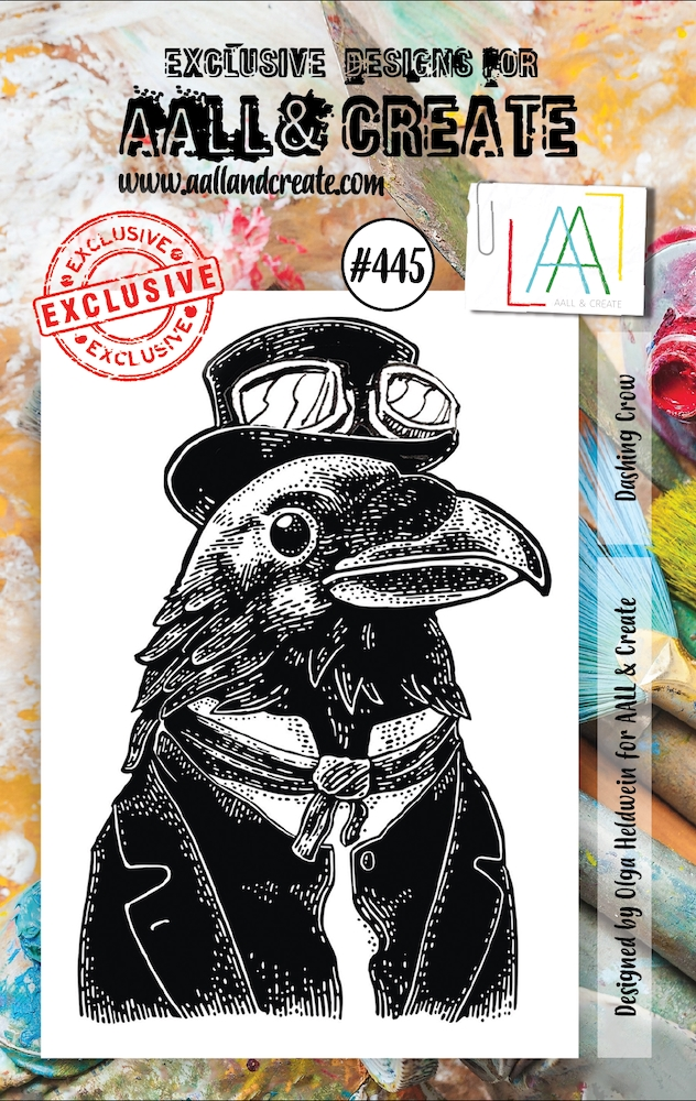 AALL & Create DASHING CROW A7 Clear Stamp aal00445 zoom image