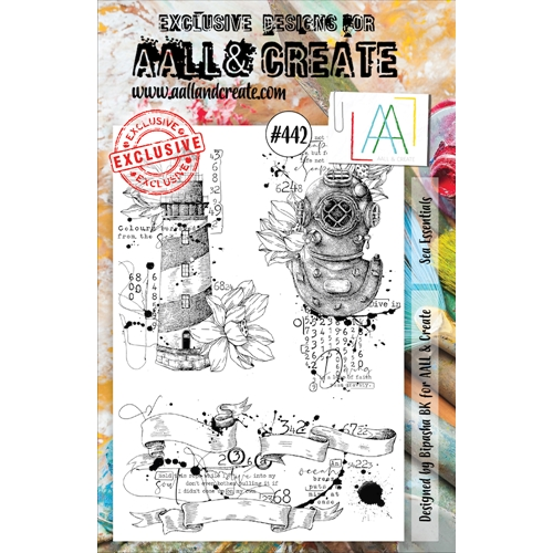 AALL & Create SEA ESSENTIALS A5 Clear Stamp Set aal00442 Preview Image
