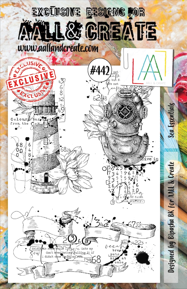 AALL & Create SEA ESSENTIALS A5 Clear Stamp Set aal00442 zoom image