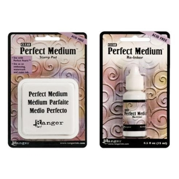 Ranger Clear PERFECT MEDIUM PAD PLUS REFILL Ink Set PPP16205 AND PPP16212