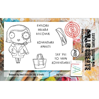 AALL & Create FLY FREE A7 Clear Stamp Set aal00422*