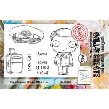 AALL & Create THE CAPTAIN A7 Clear Stamp Set aal00425*