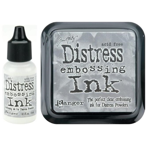 Tim Holtz DISTRESS EMBOSSING INK PAD PLUS REFILL Ranger Set TIM21643 AND TIM21827 Preview Image