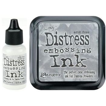 Tim Holtz DISTRESS EMBOSSING INK PAD PLUS REFILL Ranger Set TIM21643 AND TIM21827