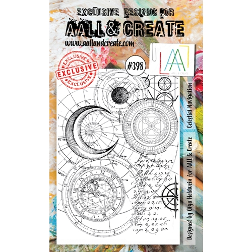 AALL & Create CELESTIAL NAVIGATION Clear Stamp aal00398 Preview Image
