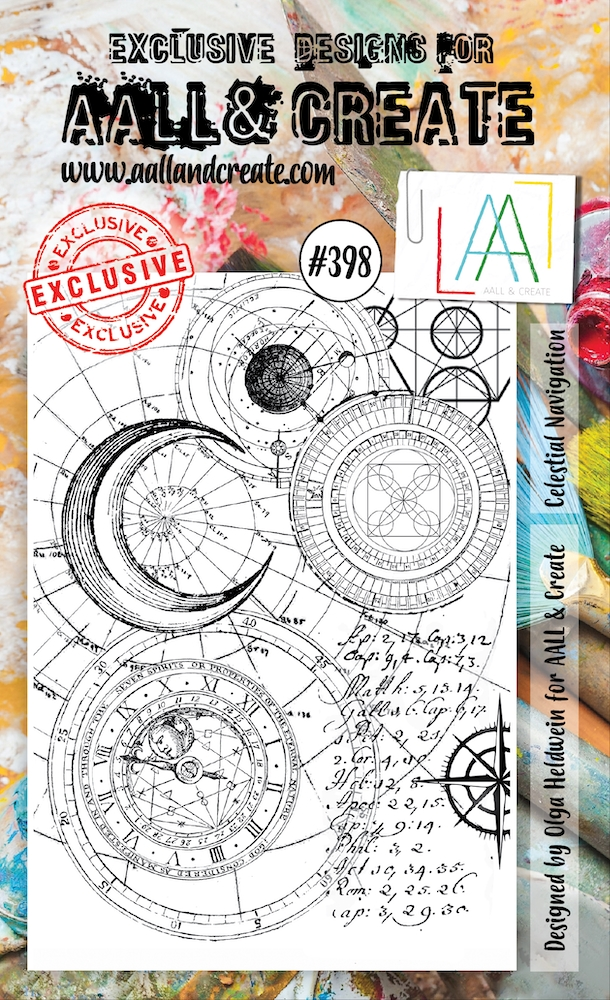 AALL & Create CELESTIAL NAVIGATION Clear Stamp aal00398 zoom image