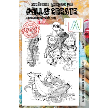AALL & Create SEA LIFE A5 Clear Stamp Set aal00390
