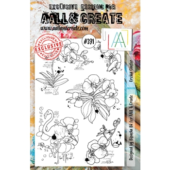 AALL & Create ORCHID CLUSTER A5 Clear Stamp Set aal00391