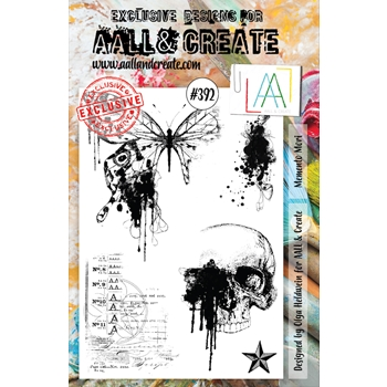 AALL & Create MEMENTO MORI A5 Clear Stamp Set aal00392