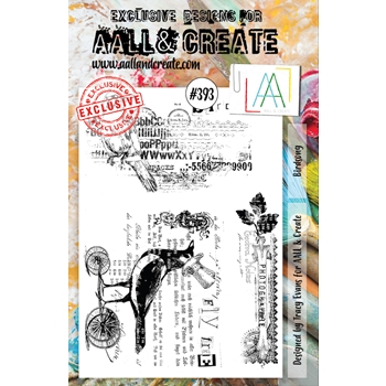 AALL & Create BIRDSONG A5 Clear Stamp Set aal00393