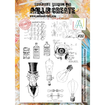 AALL & Create STEAMPUNK ALCHEMIST A4 Clear Stamp Set aal00387