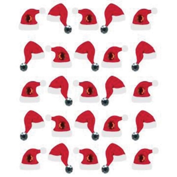 Jolee's Boutique SANTA HAT STICKERS 50 20616