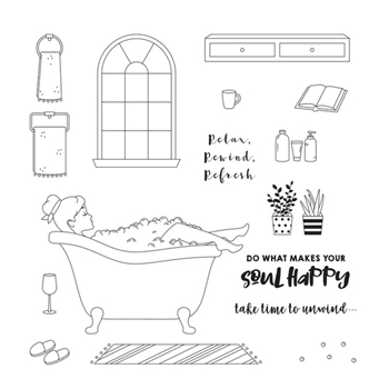 Fun Stampers Journey SELF LOVE Clear Stamps SS 0694