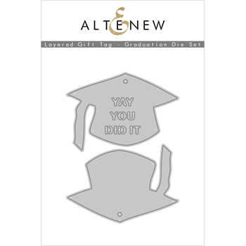Altenew LAYERED GIFT TAG GRADUATION Dies ALT4555
