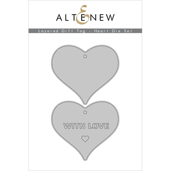 Altenew LAYERED GIFT TAG HEART Dies ALT4554