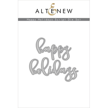 Altenew HAPPY HOLIDAYS SCRIPT Dies ALT4550