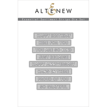 Altenew ESSENTIAL SENTIMENT STRIPS 3D Dies ALT4549