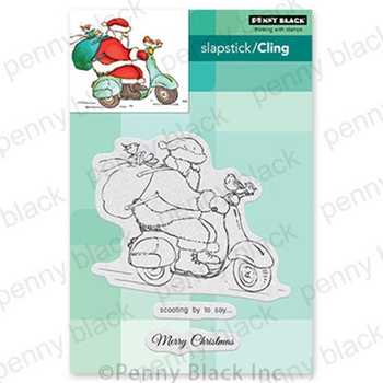 Penny Black Cling Stamp SCOOTING BY 40 759