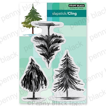 Penny Black Cling Stamps TANNENBAUM TRIO 40 756 zoom image