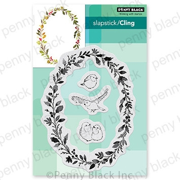 Penny Black Cling Stamps WREATH AND WINGS 40 754 zoom image