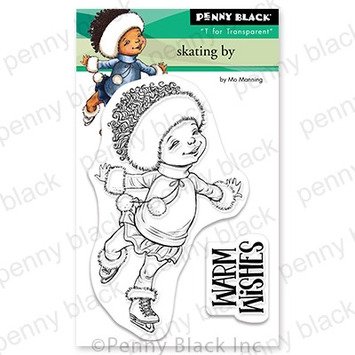 Penny Black Clear Stamps SKATING BY 30 777 Preview Image