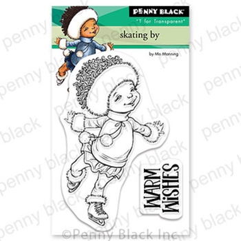 Penny Black Clear Stamps SKATING BY 30 777