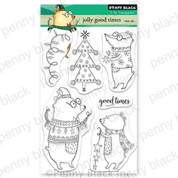 Penny Black Clear Stamps JOLLY GOOD TIMES 30 765
