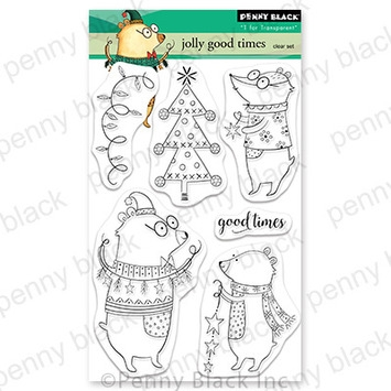 Penny Black Clear Stamps JOLLY GOOD TIMES 30 765 zoom image