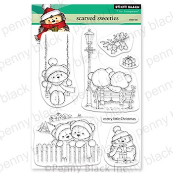 Penny Black Clear Stamps SCARVED SWEETIES 30 758