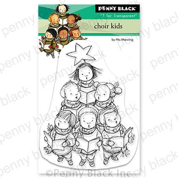 Penny Black Clear Stamps CHOIR KIDS 30 755 zoom image