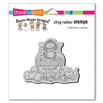Stampendous Cling Stamp MARASCHINO MOUSE hmcq25 House Mouse