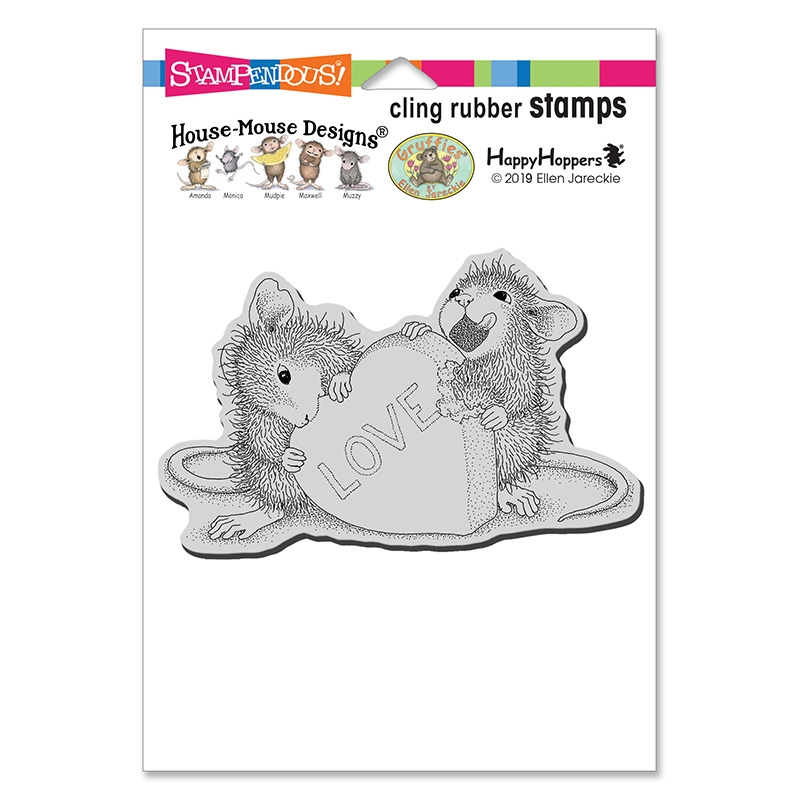 House Mouse Love Treat Cling Stamp