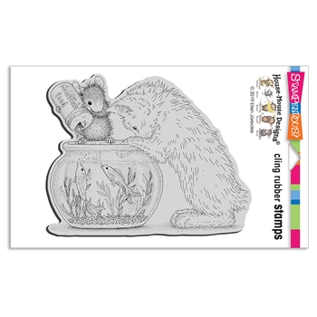 Stampendous Cling Stamp CURIOUS KITTEN hmcp144 House Mouse