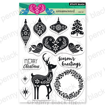 Penny Black Clear Stamps ORNAMENTED 30 747
