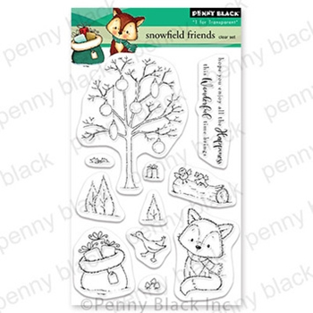 Penny Black Clear Stamps SNOWFIELD FRIENDS 30 745