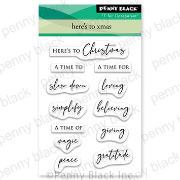 Penny Black Clear Stamps HERE'S TO XMAS 30 741 Preview Image