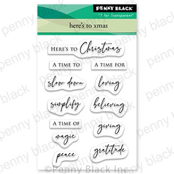 Penny Black Clear Stamps HERE'S TO XMAS 30 741
