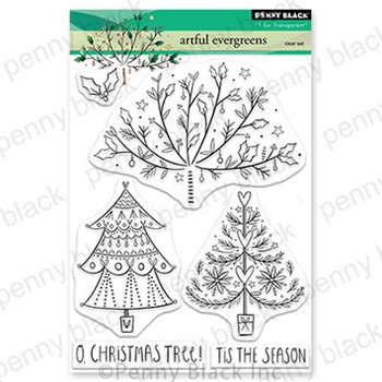 Penny Black Clear Stamps ARTFUL EVERGREENS 30 733