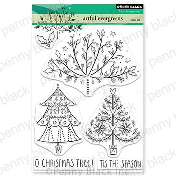 Penny Black Clear Stamps ARTFUL EVERGREENS 30 733 zoom image