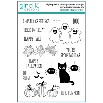 Gina K Designs HAUNTS AND HARVEST Clear Stamps 6996