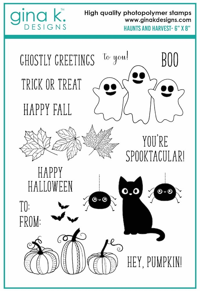 Gina K Designs HAUNTS AND HARVEST Clear Stamps 6996 zoom image
